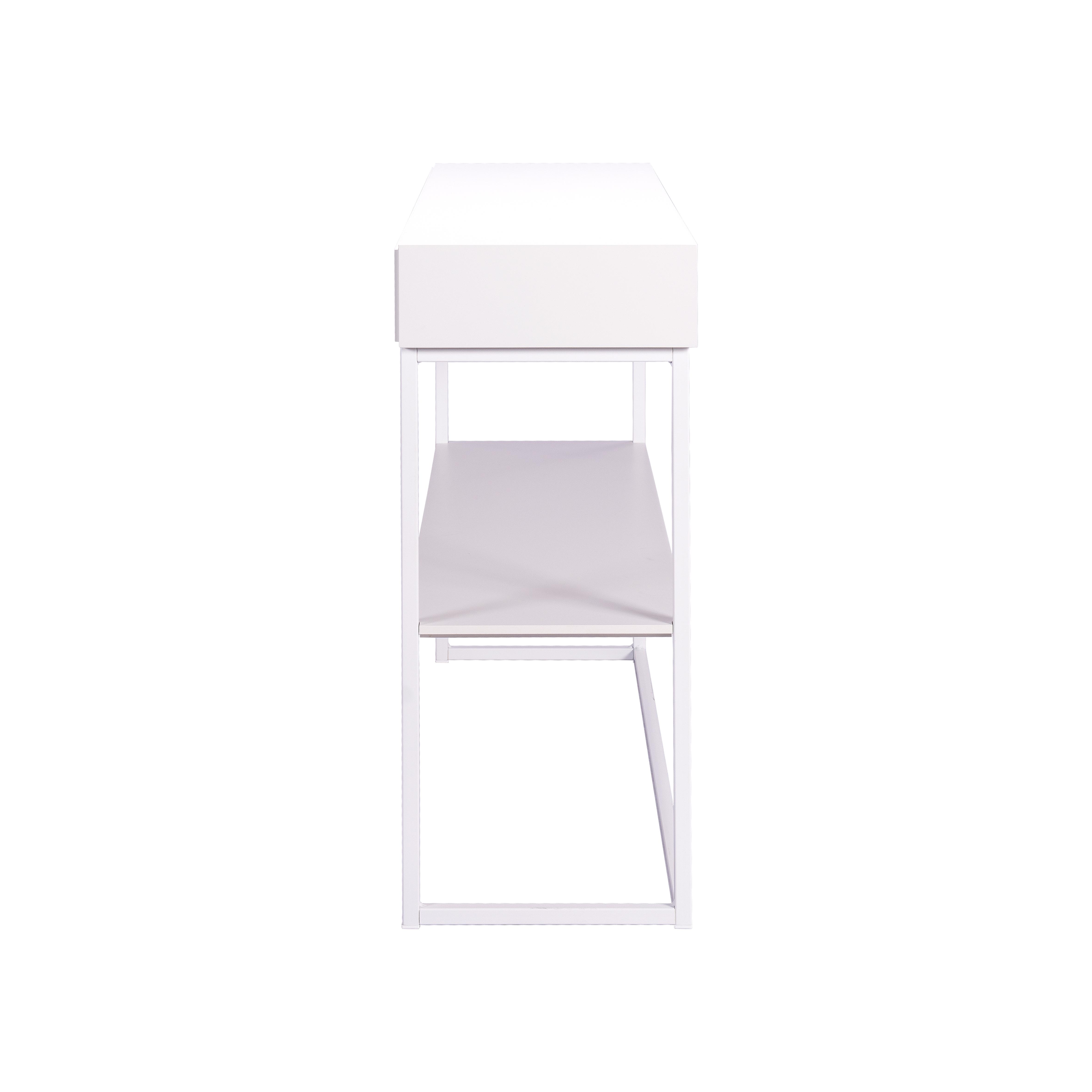 Cube avlastningsbord White från sidan - englesson.se