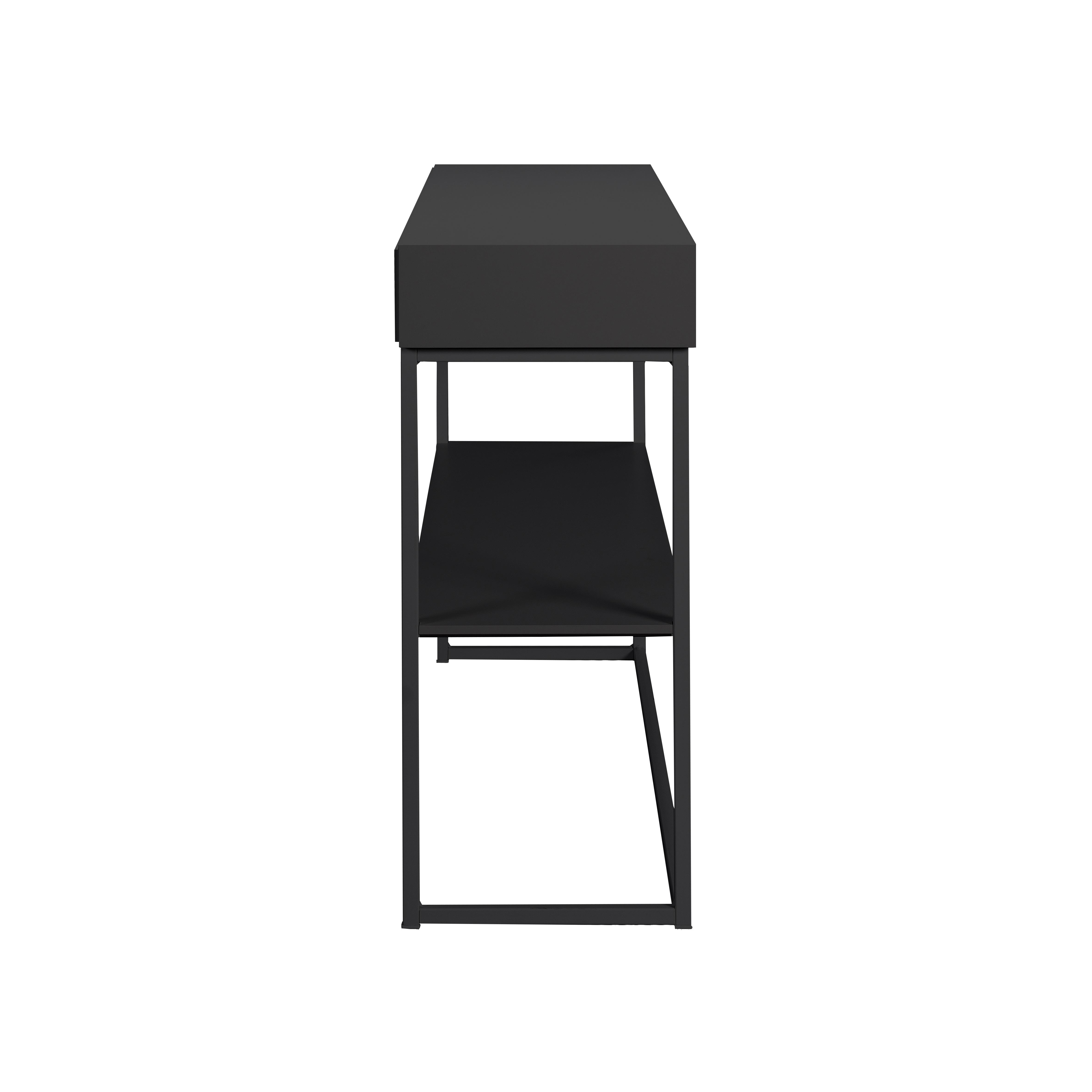 Cube avlastningsbord Black från sidan - englesson.se