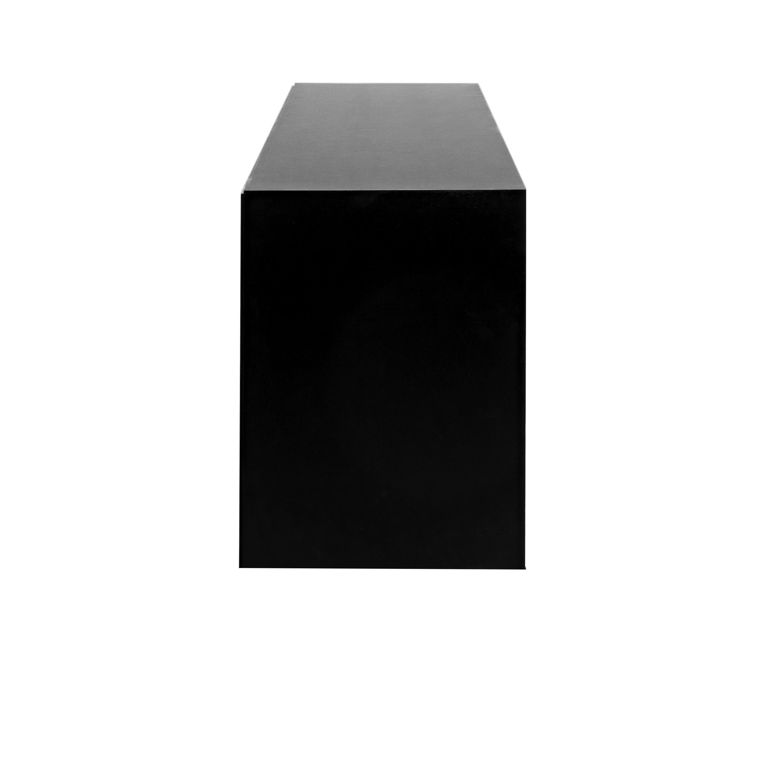 Line Skänk 3 dörrar Black snett från sidan - englesson.se