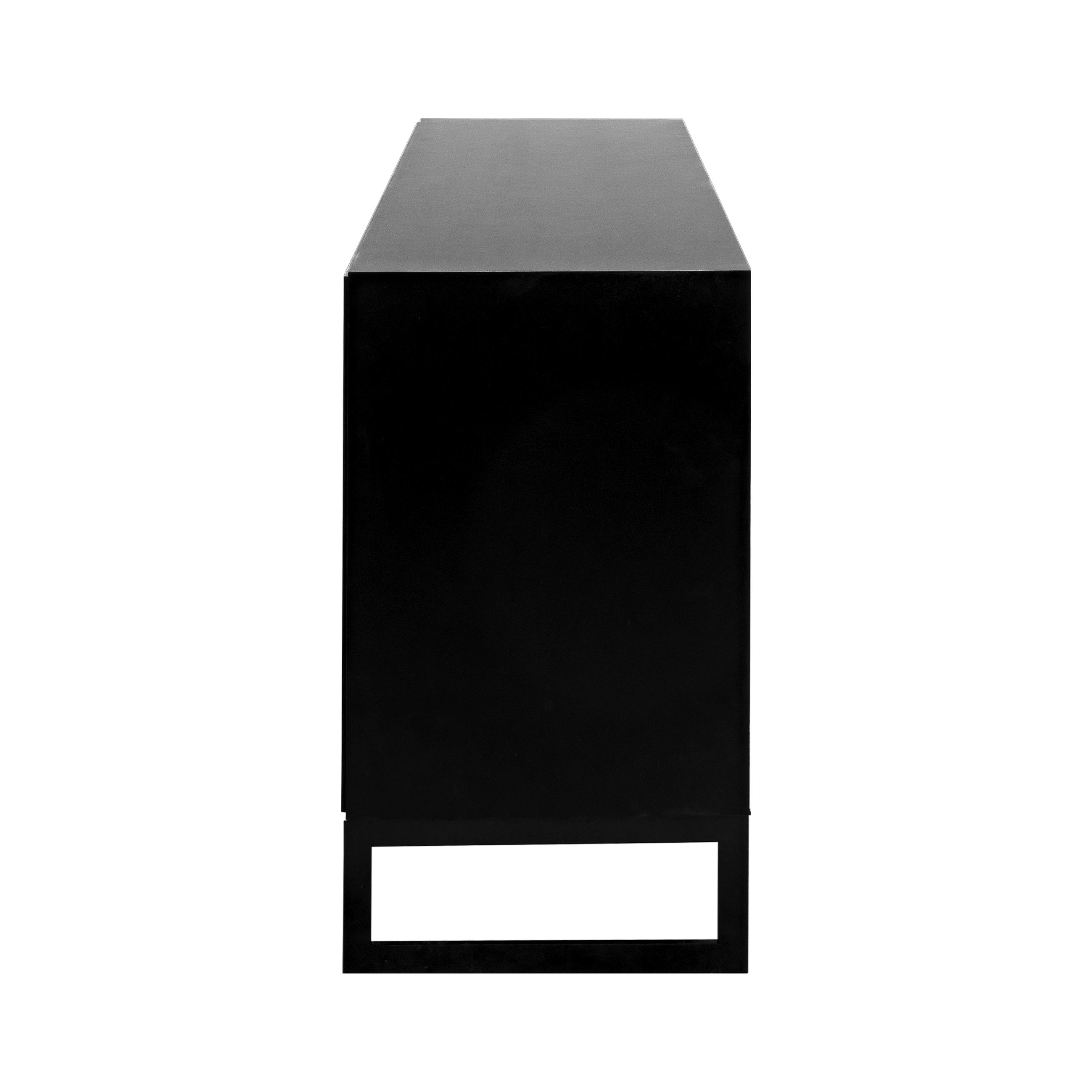 Line Skänk 3 dörrar Black med benställning snett från sidan - englesson.se