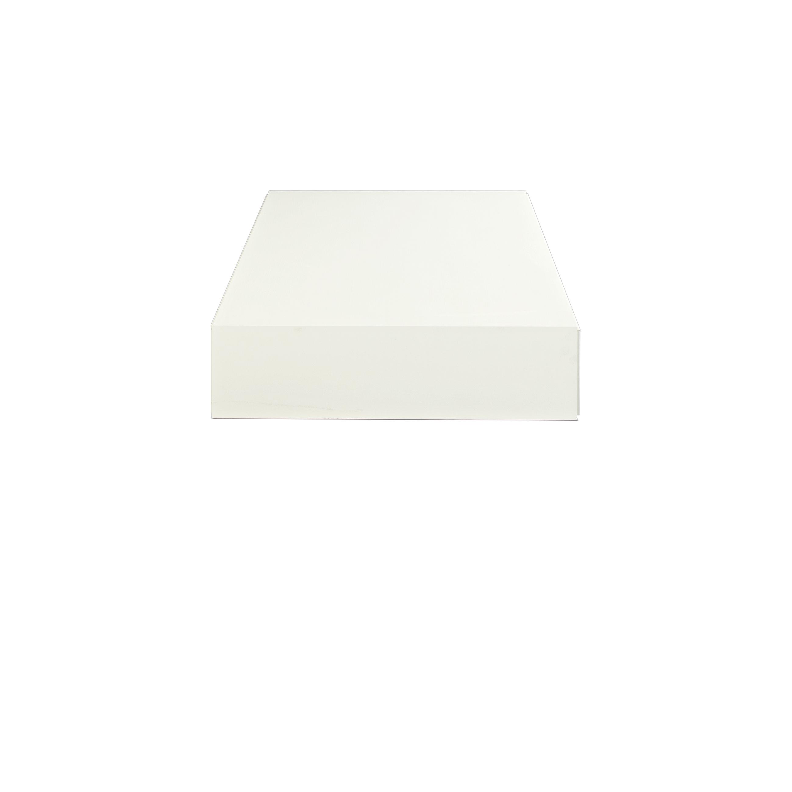 Line Soffbord rektangulärt White från sidan - englesson.se