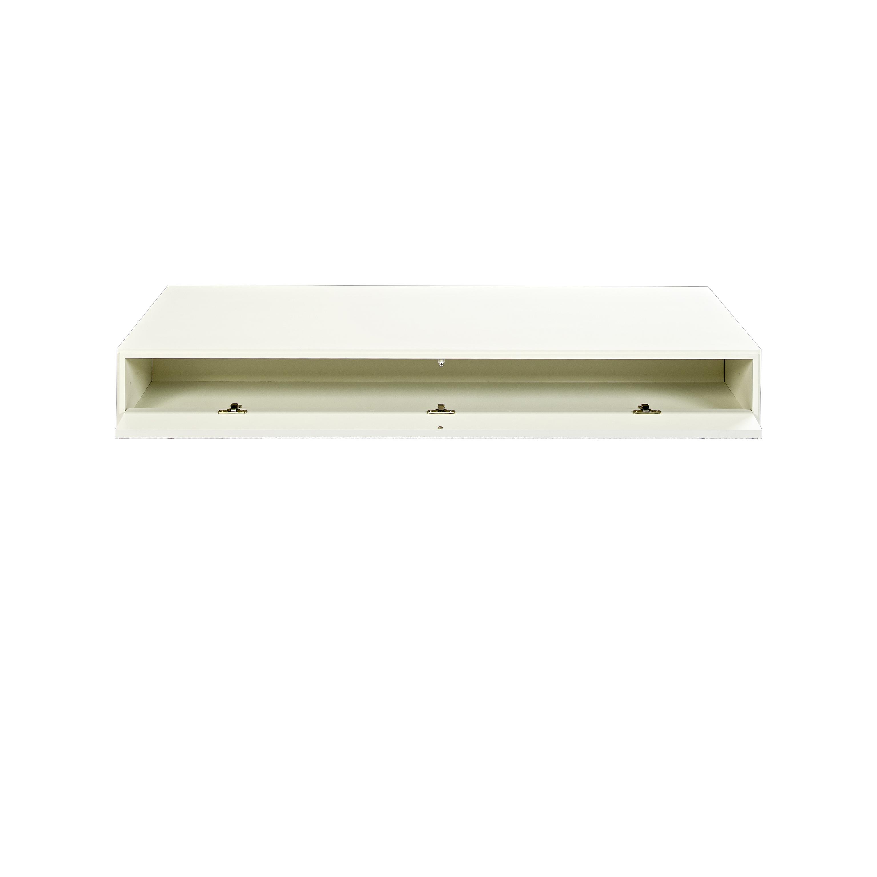 Line Soffbord rektangulärt White med öppen lucka - englesson.se