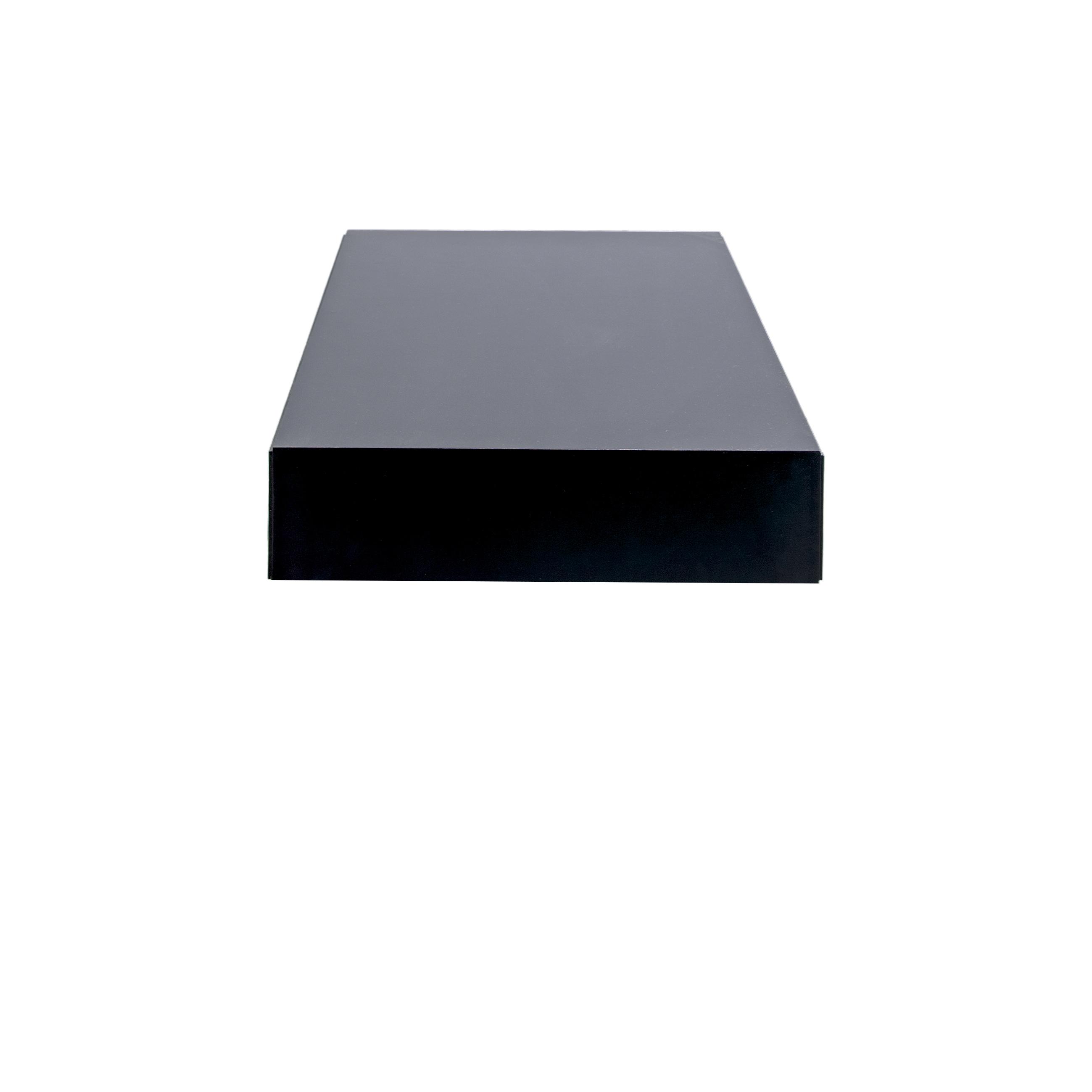 Line Soffbord rektangulärt Black från sidan - englesson.se