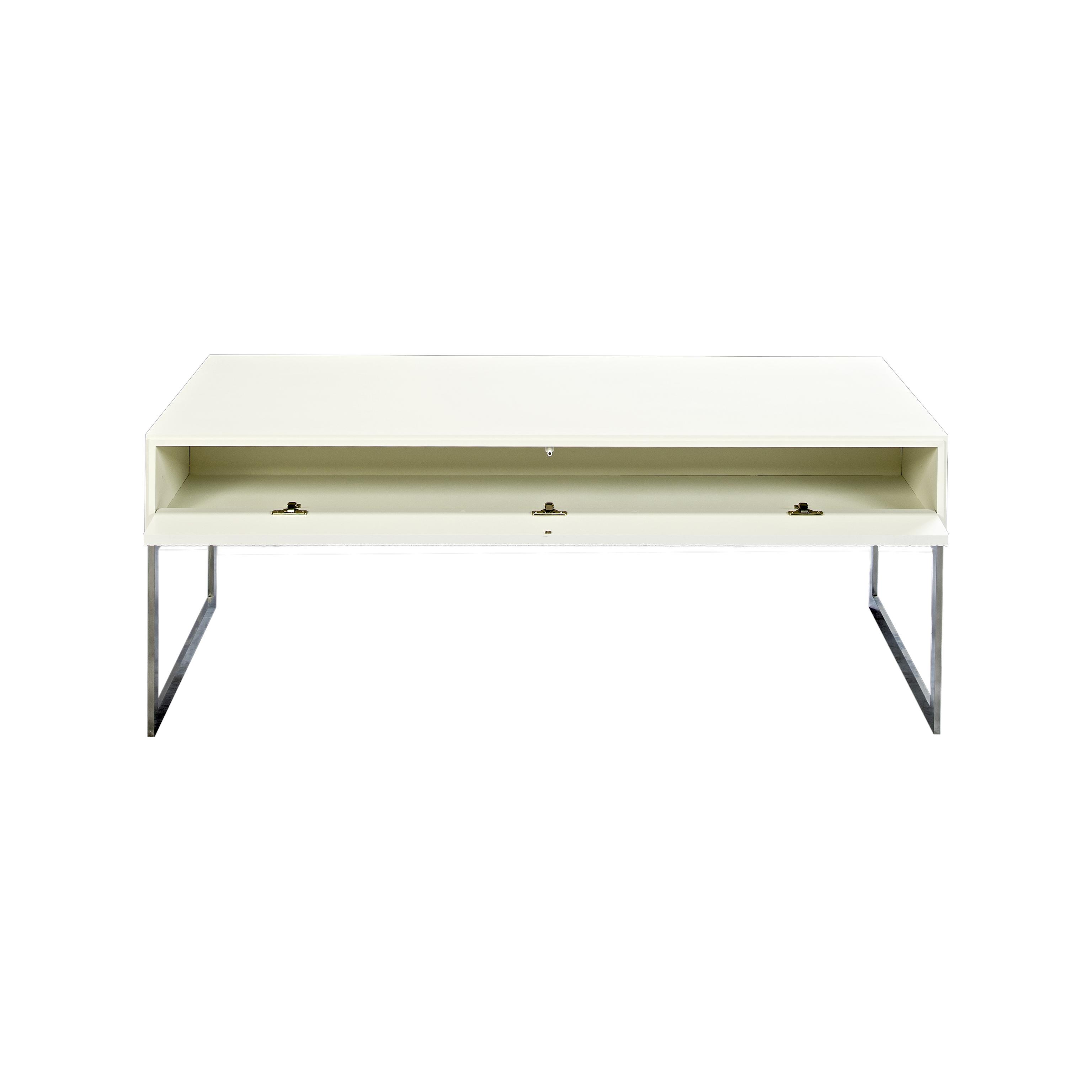 Line Soffbord rektangulärt White med benställning och öppen lucka - englesson.se