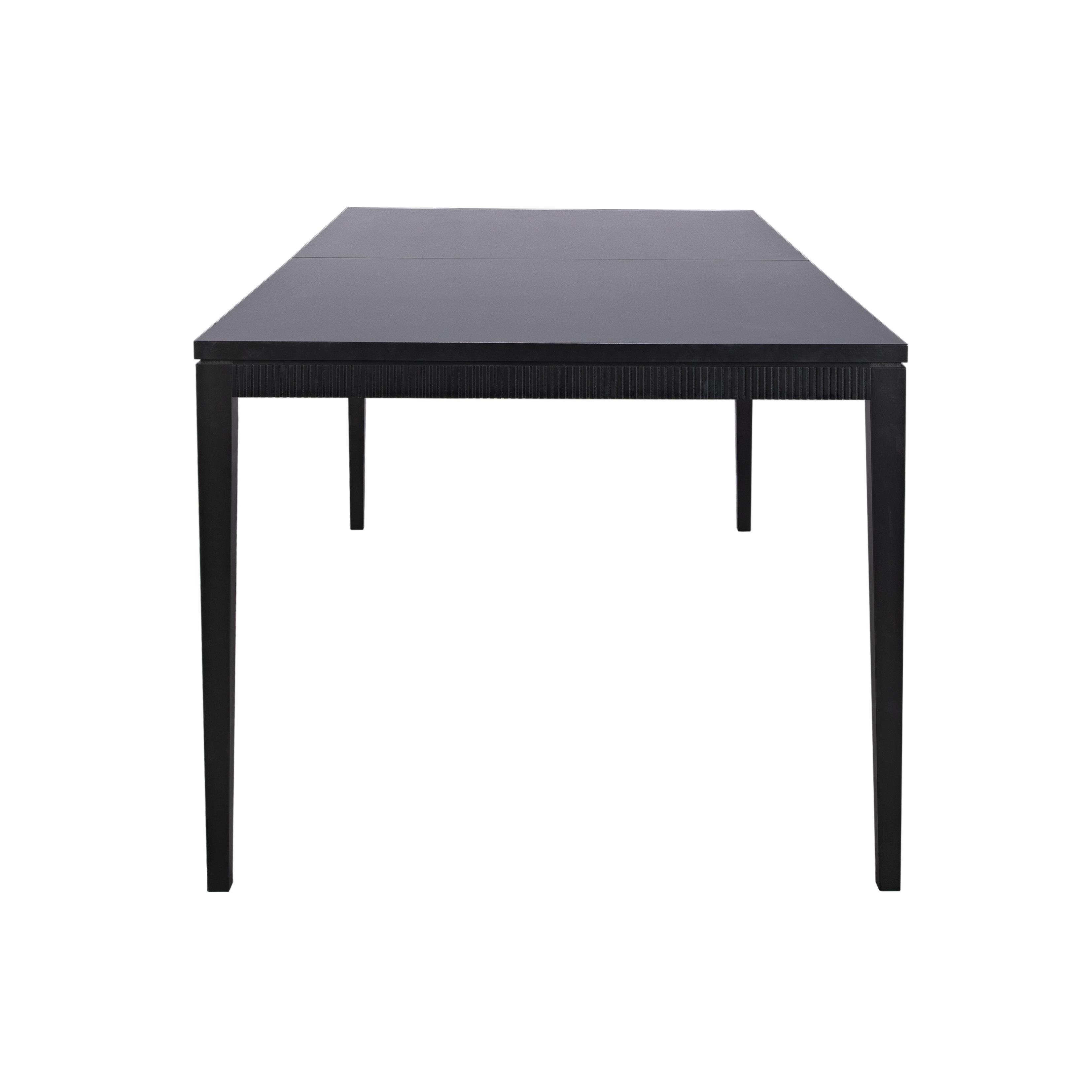Line Matbord rektangulärt Black från sidan - englesson.se