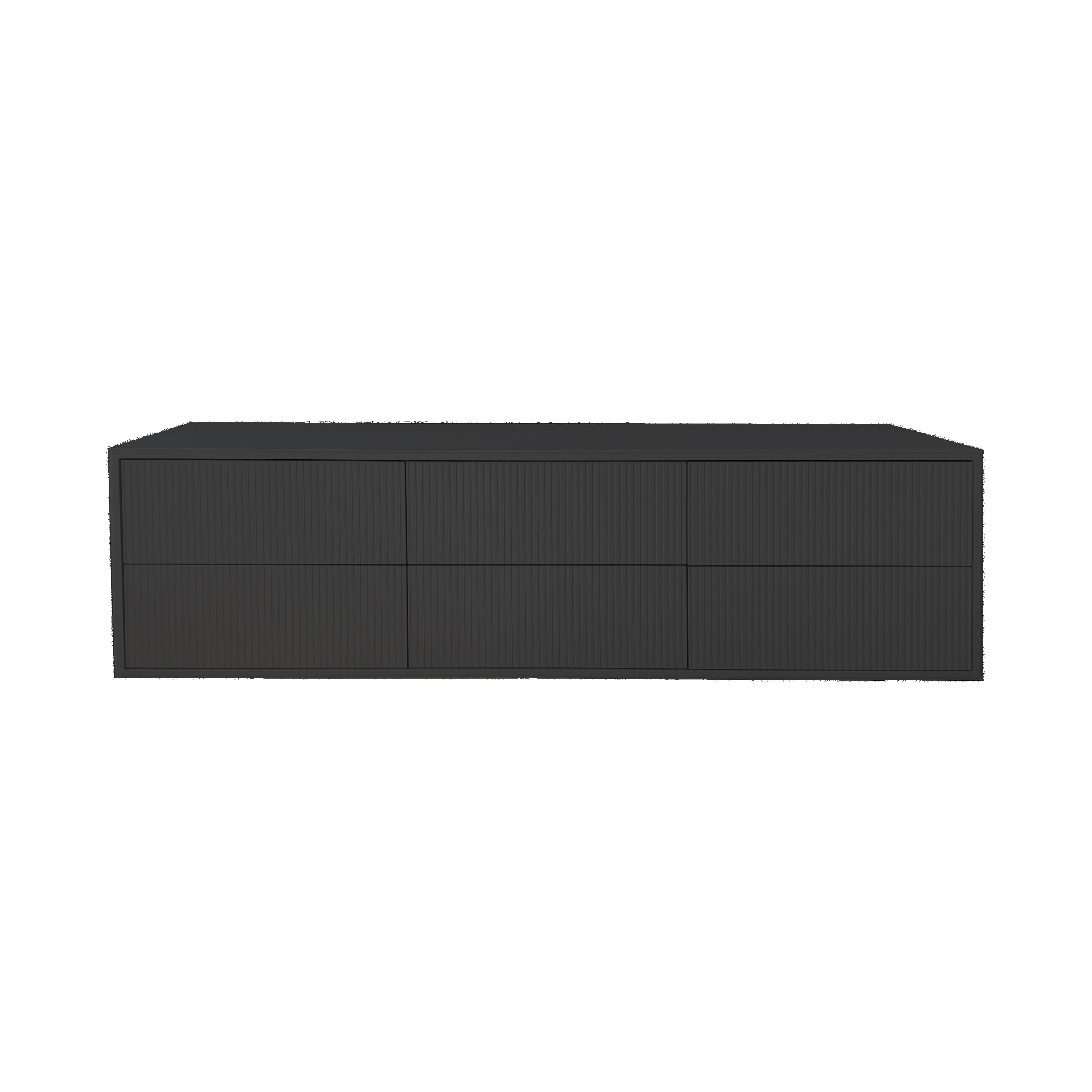 Line Byrå 6 lådor Black framifrån - englesson.se