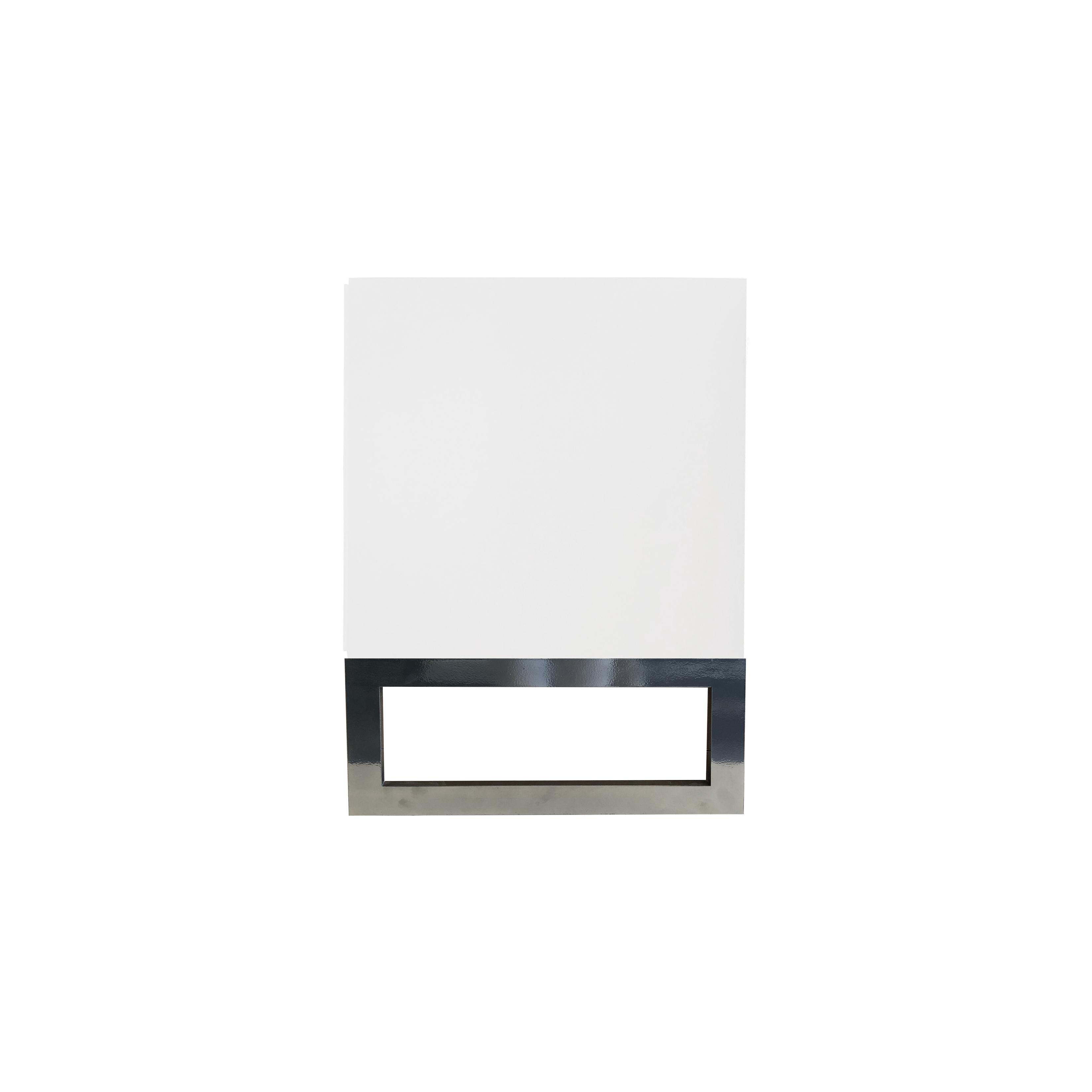 Line Byrå 6 lådor White med benställning från sidan - englesson.se