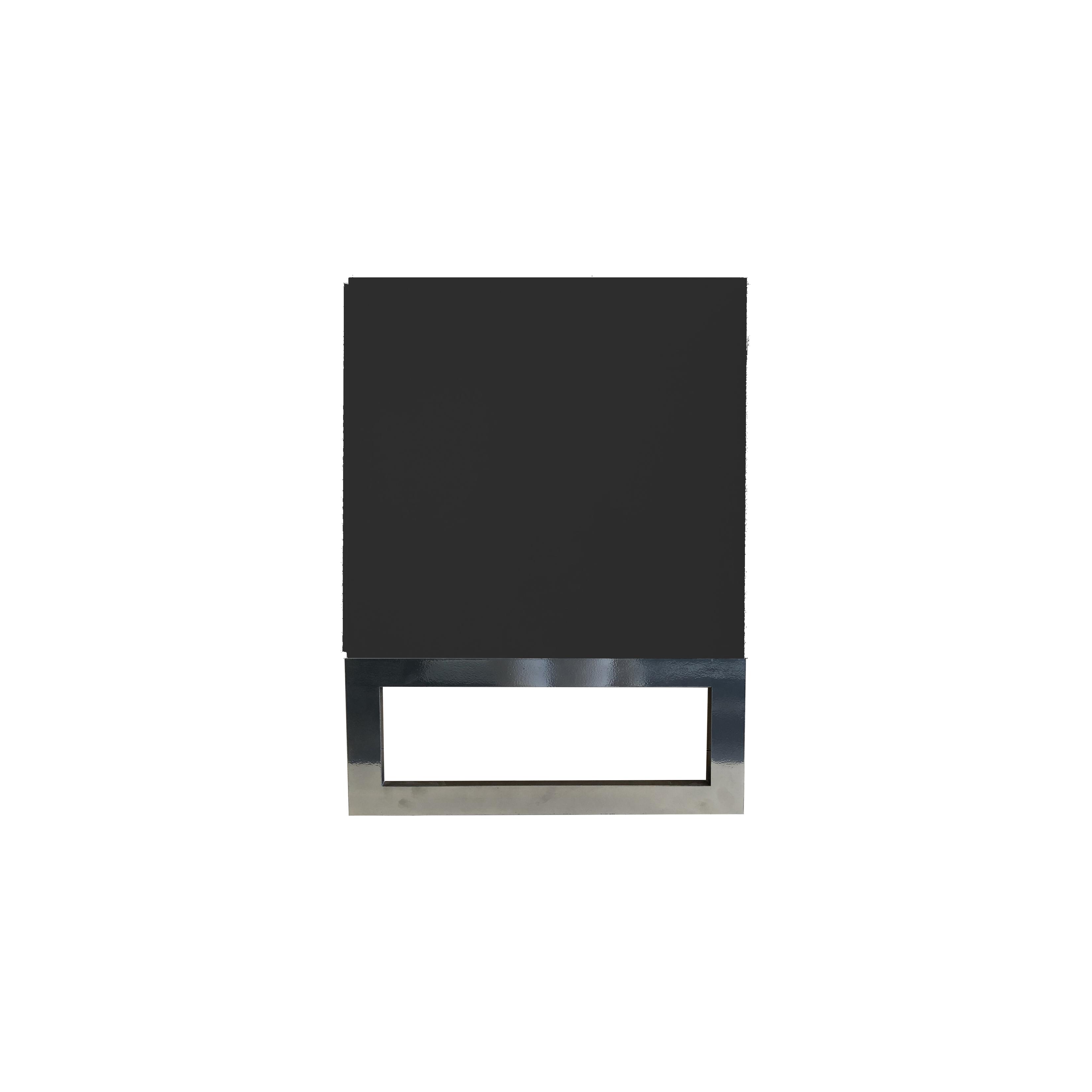 Line Byrå 6 lådor Black med benställning från sidan - englesson.se