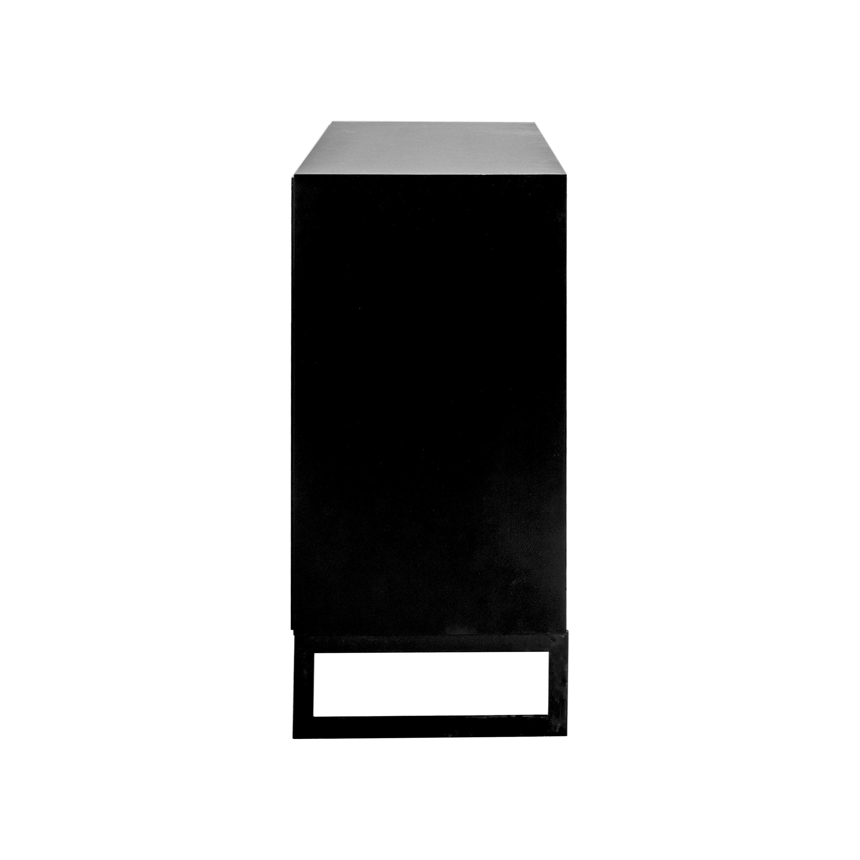 Line Byrå 3+3 lådor Black med benställning från sidan - englesson.se