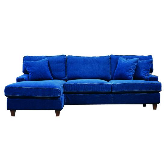 Sandhamn soffa med divan Vänster