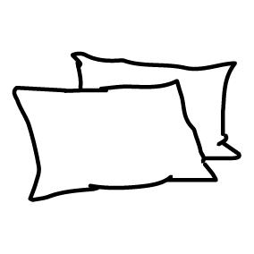 PRYDNADSKUDDAR 2 ST 60 X 40 CM