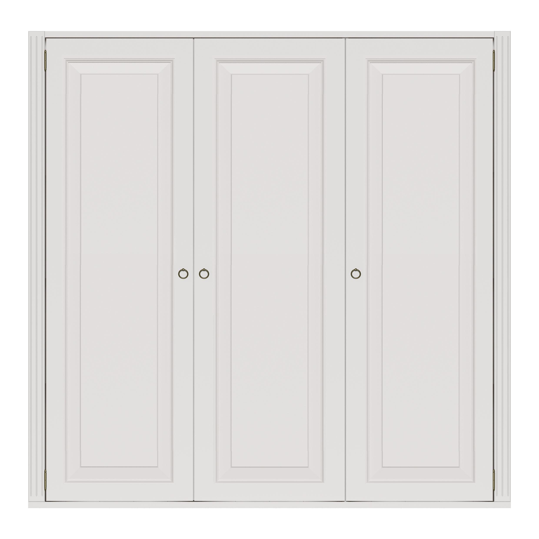 Stockholm 3 dörrar Garderob