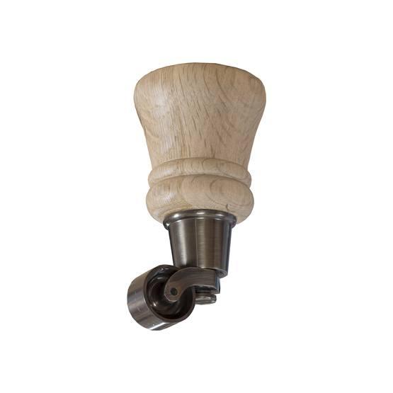 14 cm Howard ben i naturek med hjul i antik mässing - englesson.se - englesson.se