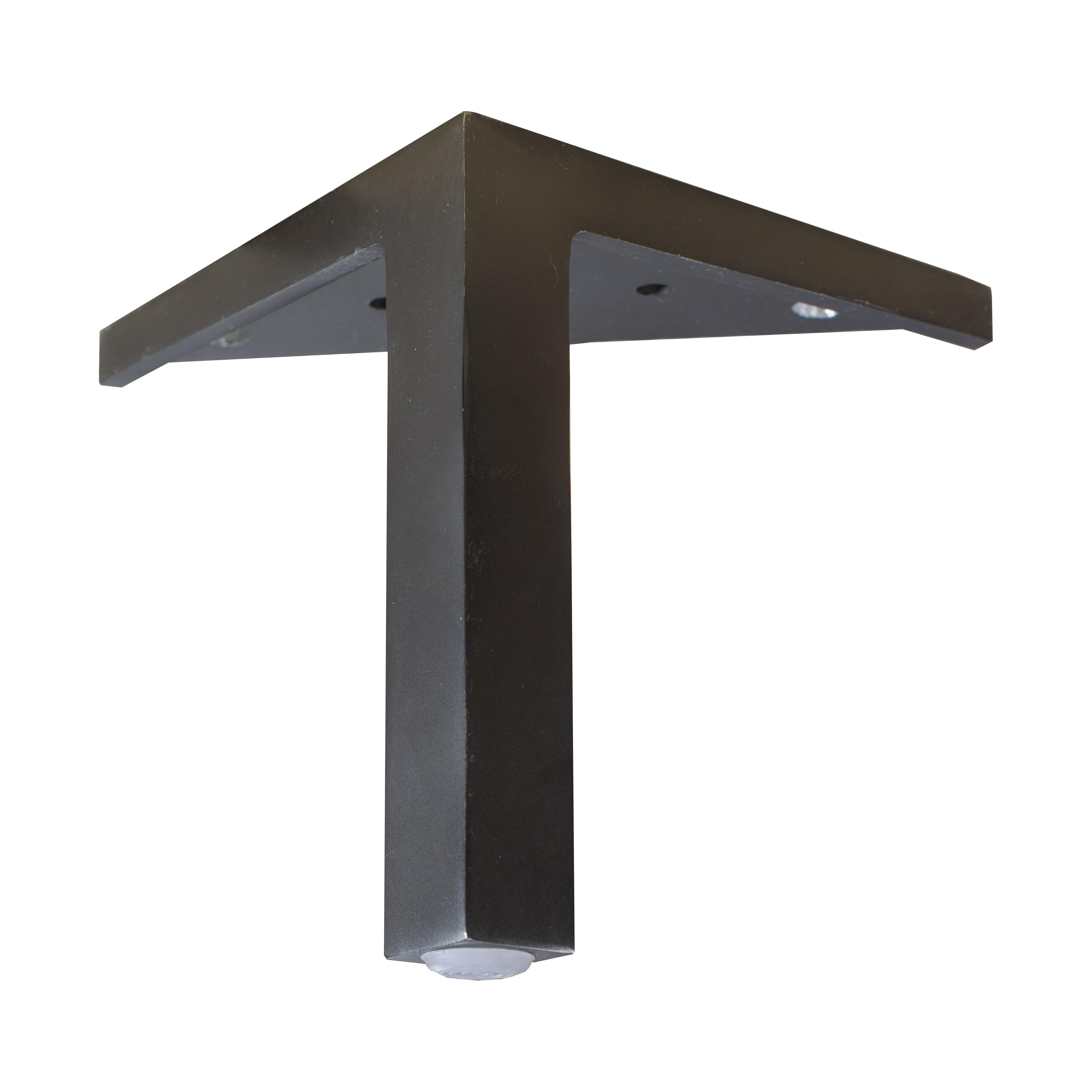 15 cm Mind ben i svart metall med synligt hörnfäste - englesson.se