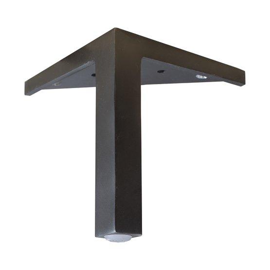 15 cm Mind ben i svart metall med synligt hörnfäste - englesson.se - englesson.se