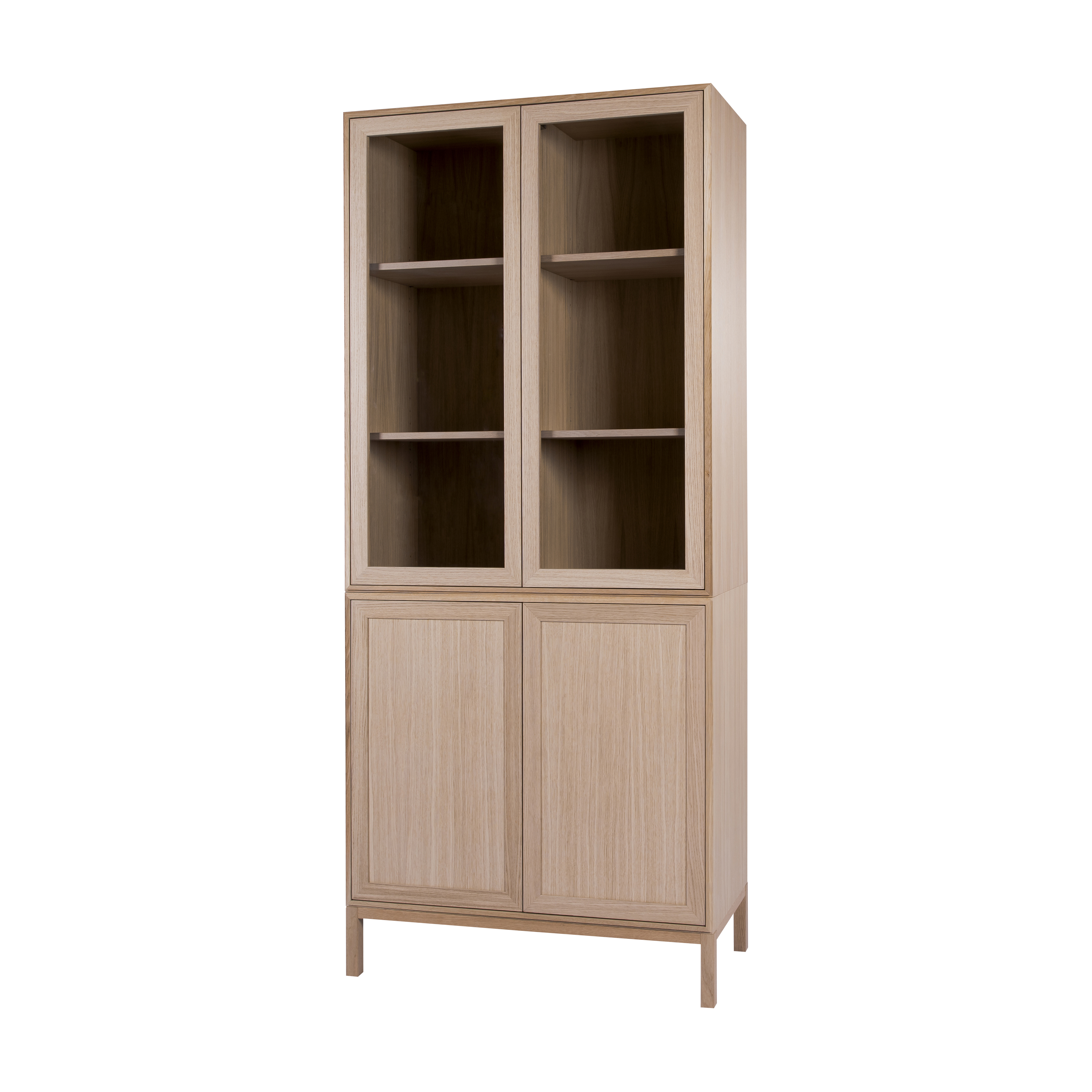 EDGE NATURAL OAK VITRINSKÅP HÖGT 86Bx38Dx198H