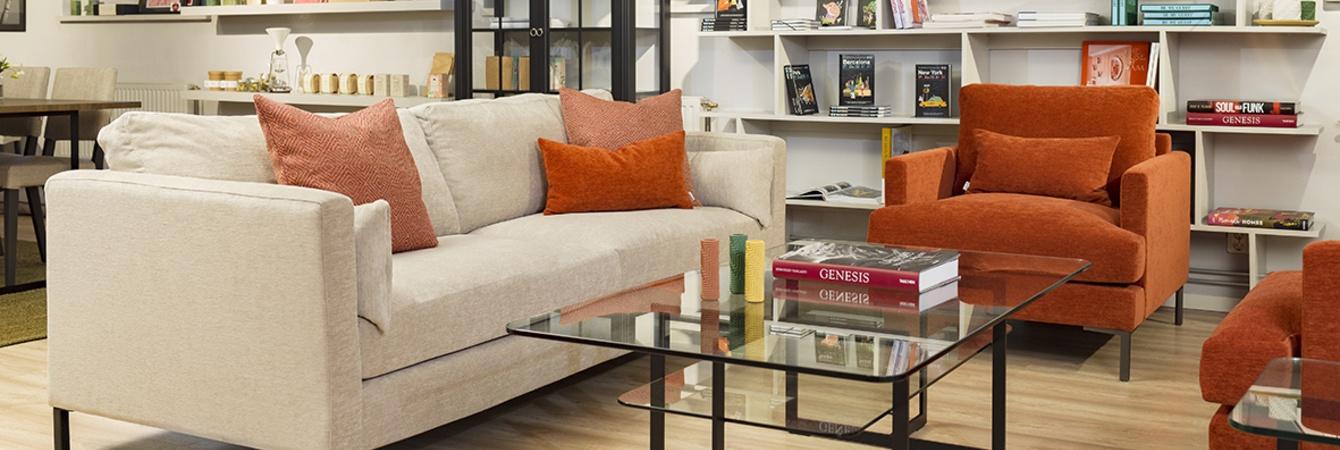 Wave soffa, Square soffbord, Mind fåtölj